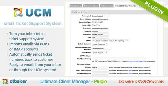 POP3 IMAP Email Ticket System