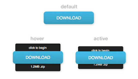 Awesome Animated Download Button With CSS3