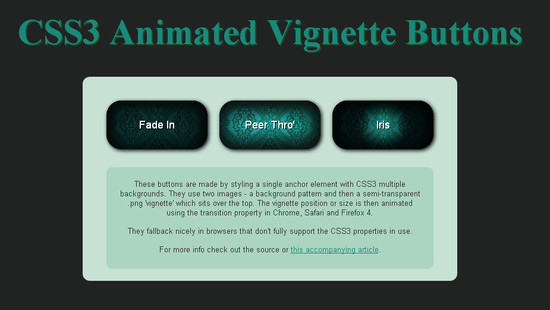 CSS3 Animated Vignette Buttons