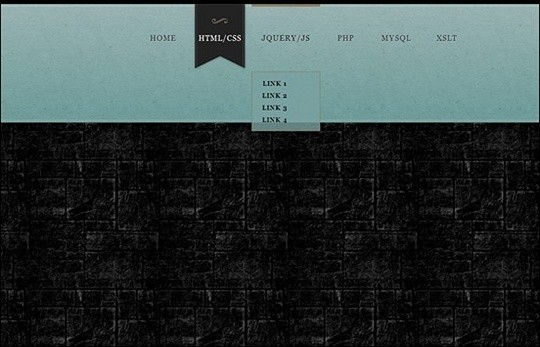 creating a marble style css3 navigation menu